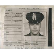 1953 Press Photo George Kuhter Service Revolver