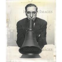 1952 Press Photo Megaphone - RRW44643