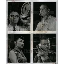 1957 Press Photo Ford Motor Company Employee - RRX37727