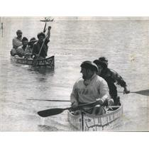 1971 Press Photo Marquette Joliet Race 1700's Style Boats Chicago - RSC99469