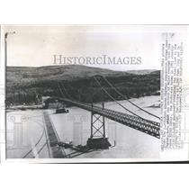 1957 Copy of 1943 Press Photo Alaska Highway Bridge