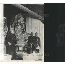 1931 Press Photo Buddhist God Takamura Sculptor Image - RRX88621