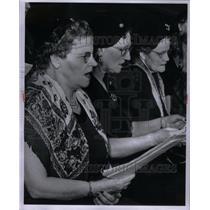 1956 Press Photo Choral Group, Detroit - RRX58889