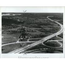1989 Press Photo Construction Mall Auburn Hills I-75