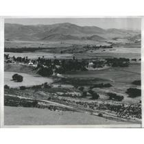 1938 Press Photo Air view of Hollister Calif. ranch - RSC99499