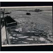 1961 Press Photo Ice Jam - RRW64317