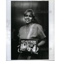 1969 Press Photo Civil Rights Woman Holding Picture - RRX48903