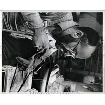 1979 Press Photo Joseph Fletcher Jewelry Shop Michigan