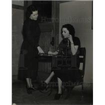 1938 Press Photo Emily Griffith school telephone girls - RRX65795