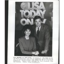 Press Photo USA Today On TV Series Co-Anchors Macatee Ruyak Promotion Picture