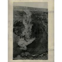 1928 Press Photo Halemaumau fissures steam material - RRW81603