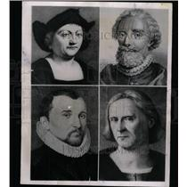 1951 Press Photo Portraits Christopher Columbus