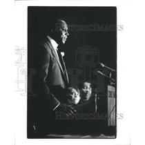 1984 Press Photo Vernon Jordan speaking at NAACP Dinner- RSA20353