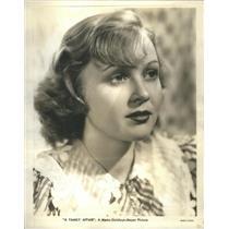 1943 Press Photo Cecilia Parker American Film Actress - RSC97183