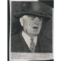 1949 Press Photo John Lewis President United Mine Workers Outside Headquarters