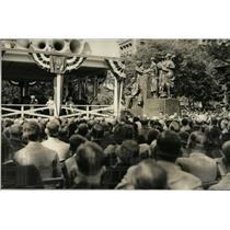 1933 Press Photo Roosevelt Statue Samuel Gompers - RRW77995