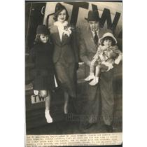 1936 Press Photo Joan Bennett/Actress/& Family/Gene Markey/Film Writer