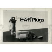 1973 Press Photo Ear Plugs, Natl Research Corp - RRW69983