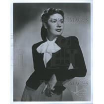 Press Photo Actress Dina Halpern In A Picture From The 1940s