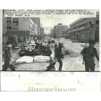 1976 Press Photo Red Cross Workers Lebanon Syrian