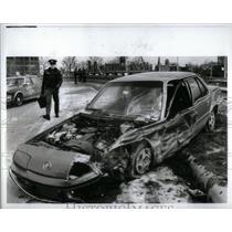 1987 Press Photo Auto accident Detroit - RRX54833