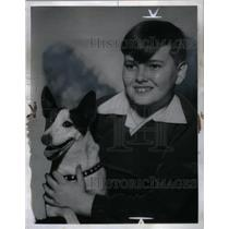 1940 Press Photo Spelling Champ Lee O'Connell & dog - RRX59455