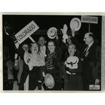 1936 Press Photo Colorado delegation convetion floor - RRX63157
