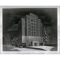 1952 Press Photo Detroit Medical Center Hospital