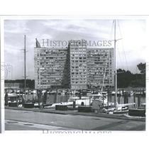 1964 Press Photo Memorial Park Marinas Hotel Detroit
