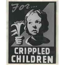 1946 Photo National Society For Crippled Children Poste - RRW39621