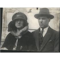1924 Press Photo Danish Prince Erik With New Bride Canadian Lumber Heir