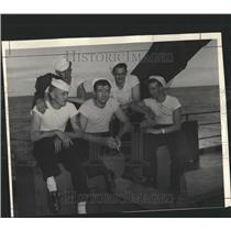 1946 Press Photo Bound Bikini atom bomb Navy Rokcy - RRX81291