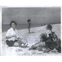 1963 Press Photo Sanibel Island Beach Florida