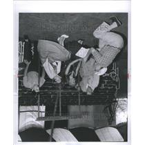 1955 Press Photo Robert Jarvis Director Actor Scene
