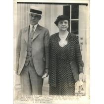 1935 Press Photo James O'Neill NRA Head Secretary Perkins White House Roosevelt
