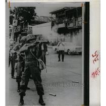 1968 Press Photo Panama National Guard Tear Gas Grenade - RRX70633