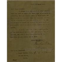 1919 Press Photo Confrence Prime Minister Letter Wilson - RRW75091