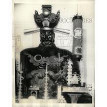 "1935 Press Photo Buddhist ""Judge of Hell"" - RRX70449"