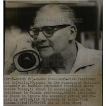 1968 Press Photo Max Delvalle/Panama/Vice President - RRX42019