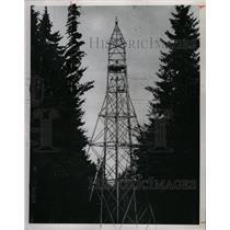 1953 Press Photo Watchtower on German-Czech Border - RRX70589
