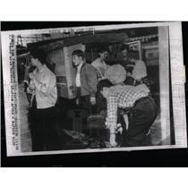 1960 Press Photo Japan Transportation Strike