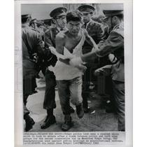 1962 Press Photo Tokyo Police Student Lead Away Protest - RRX70351