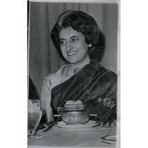 1962 Press Photo Indira Gandhi Daughter Prime Minister - RRX44971