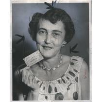 1959 Press Photo Carmen Addie Farmer Detroit Times Win