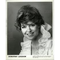 1980 Press Photo Dorothy Loudon Actress West Side Waltz - RRW10153
