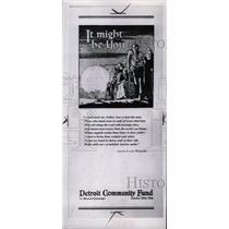 1953 Press Photo Poster Detroit community fund org love - RRW75373