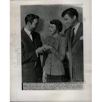 1949 Press Photo Betsy Drake Zachary Scott Morgan - RRW18311