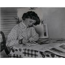 1951 Press Photo Kathryn Beaumont English Disney London - RRX55977