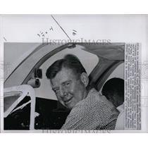 1959 Press Photo Arthur Morton Godfrey TV Broadcaster - RRW00807