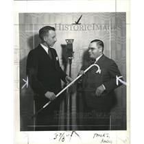 1936 Press Photo Donald Schuer Gives Cane To Kean - RRW45763
